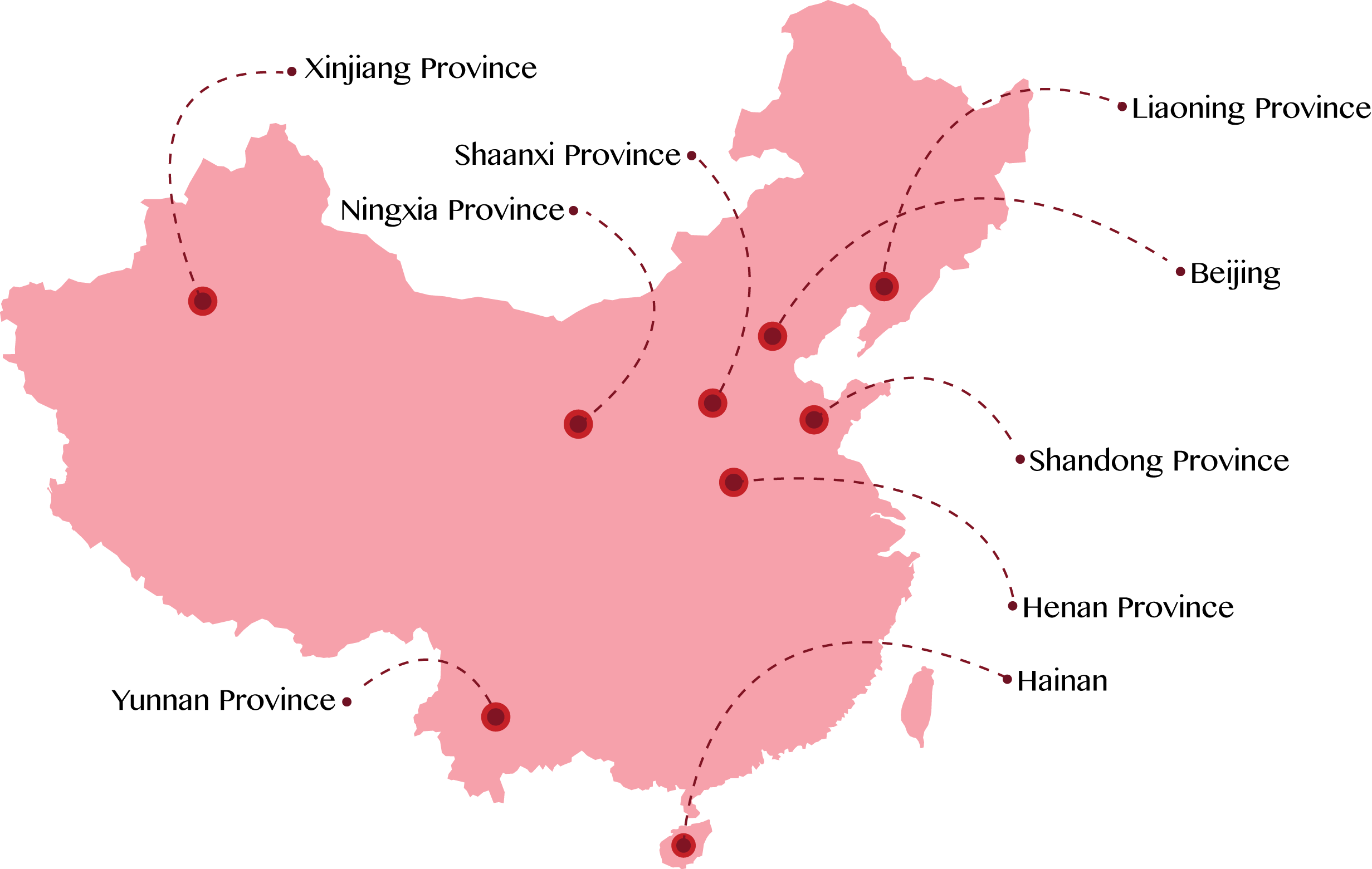 China Partners Map