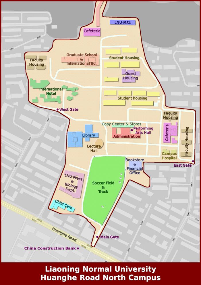 Campus Map  LNUMSU College Of International Business